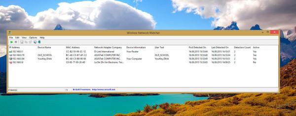 В списке показан мой роутер, мой компьютер, один чужой компьютер и один чужой телефон.