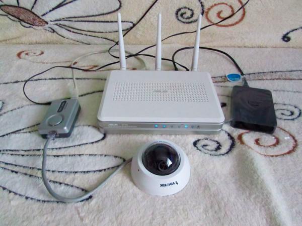 Небольшая система видеонаблюдения для офиса основанная на роутере.
