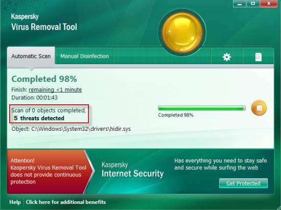 Kaspersky Virus Removal Tool.
