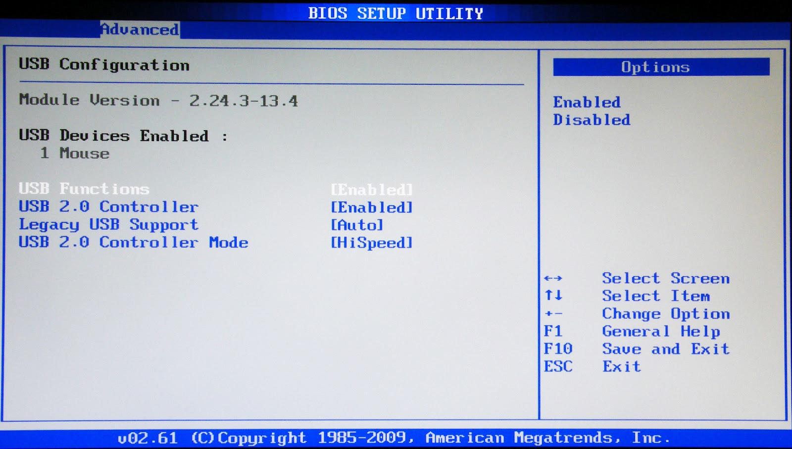Проверка через BIOS